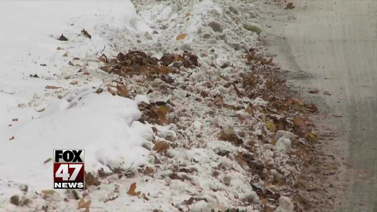 Snow, ice slow down leaf removal