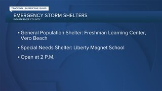 Storms shelters opening Saturday in Indian River County
