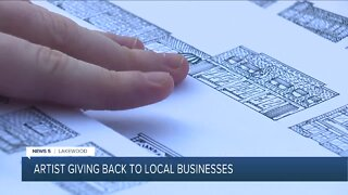 Local college student creates 'Lakewood Small' art print to help small businesses during pandemic
