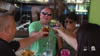 Delray Beach tourists enjoy one last drink before bars close