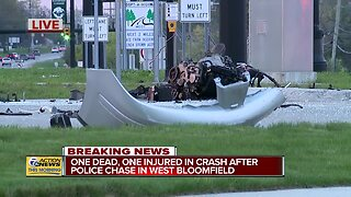 One dead, one injured in crash after police chase in West Bloomfield