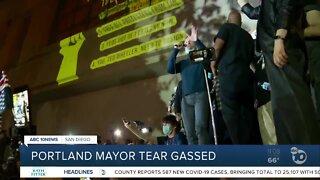 Portland mayor tear gassed