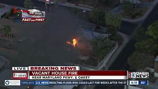 Vacant house fire near Maryland and Oakey