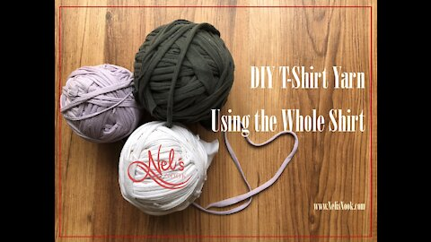 DIY T-Shirt yarn - Using the Whole Shirt