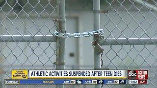 Hillsborough Schools stop athletic activities after teen's death
