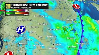 Thunderstorms and heat building across western Canada