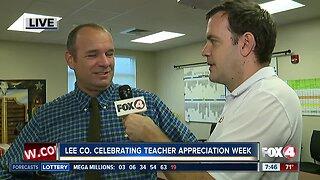Lee County celebrating Teacher Appreciation Week - 7:30am live report