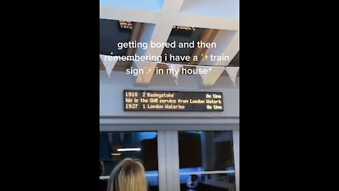 This Woman Has A Train Sign In Her Home!