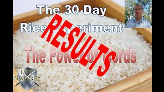 The 30 Day Rice Experiment Results