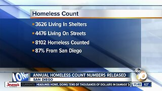 San Diego County homeless count for 2019 released
