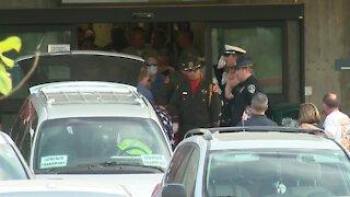 KCSO deputy's body escorted from Kern Medical