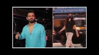 Rahul Vaidya Snapped with GF Disha Parmar