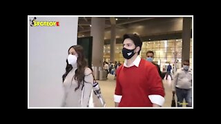 Varun Dhawan and Kiara Advani Spotted at the Airport | SpotboyE