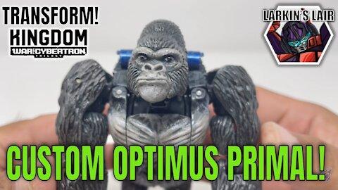 Transform! War for Cybertron Kingdom Optimus Primal Custom, Larkin's Lair