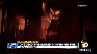 One dead, five injured in Logan Heights fire