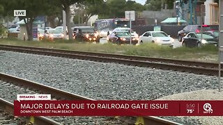 UPDATE: Railroad gate problem fixed in downtown West Palm Beach, police say