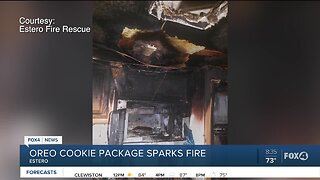 Oreo cookie sparks fire in Estero mobile home