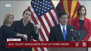 Gov. Ducey announces stay-at-home order in Arizona