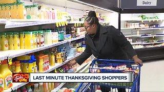 Last minute Thanksgiving shopping