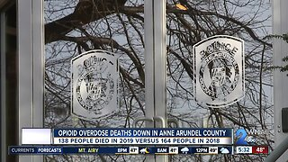 Opioid overdose deaths down in Anne Arundel County