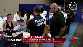 Students take part in mock emergency at Kern County Public Health