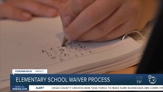 Elementary school waiver process