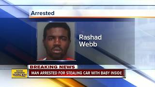 Suspect arrested after car was stolen with 8-month-old inside in St. Pete
