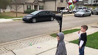 Little boy receives birthday parade after his party was cancelled