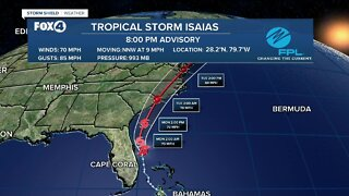 Tropical Storm Isaias continues to move away from SWFL