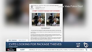 Chula Vista Police search for package thieves