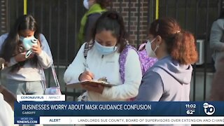 Businesses worry about mask guidance confusion