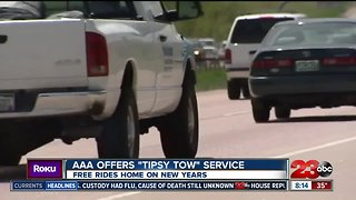"""AAA offering free """"Tipsy Tow"""" service"""