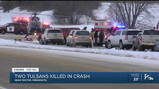Two Tulsans Killed In Crash Near Dexter, Minnesota
