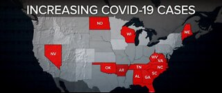 14 states seeing a rise in COVID-19 cases