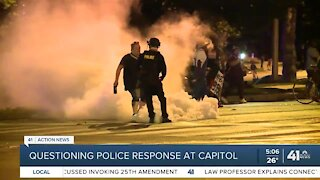 Questioning police response at Capitol