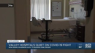 Valley hospitals quiet on COVID-19 fight