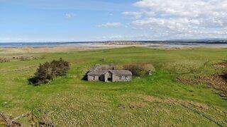 Irish drone captures historic abandoned home on desolate island