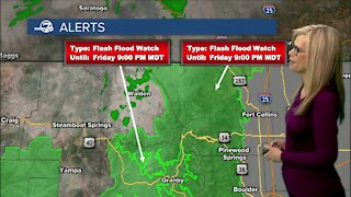 Flash Flood Watch in effect for northern, central, western Colorado