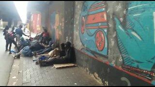 SOUTH AFRICA - Johannesburg - Homeless shelter (videos) (6kd)
