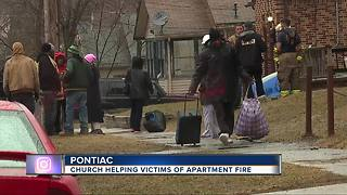 Apartment fire in Pontiac forces 20 people from their homes