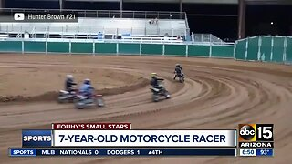 Small Stars: 7-year-old motorcycle racer Hunter
