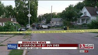 2-year-old hit by SUV dies