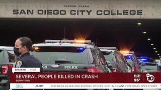 Witness reacts to crash near City College