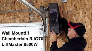 Wall Mount Garage Door Opener Install - Chamberlain RJO70