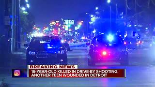 16-year-old killed, 15-year-old injured in drive-by shooting on Detroit's west side
