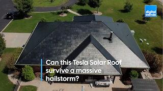 Can this Tesla Solar Roof survive a massive hailstorm?