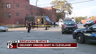 Delivery service driver shot on Scovill Avenue