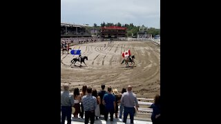 Canadian Anthem at the Calgary Stampede