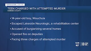 14-year-old Wauchula Florida boy faces attempted murder charges after alleged shootout with police