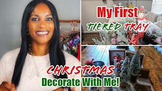 2020 Christmas Decorate with me | My First Tiered Tray